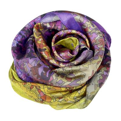 Sjaals | Inspired by Monet | 800-510 | 130x130 cm