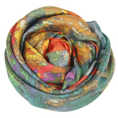 Sjaals | Inspired by Monet | 800-507 | 130x130 cm