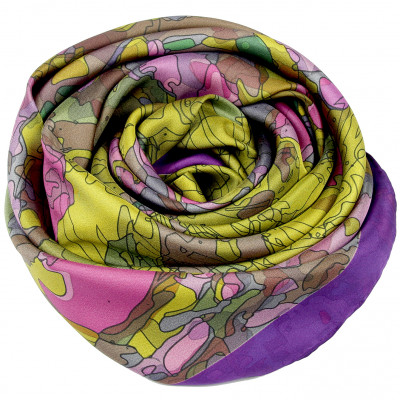 Sjaals | Inspired by Monet | 800-509 | 130x130 cm