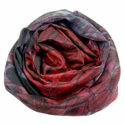 Sjaals | Handbeschilderd | 180x45 cm | 100-304