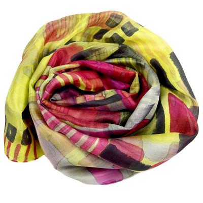 Sjaals | Handbeschilderd | 180x45 cm | 100-305