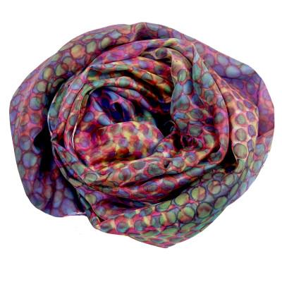 Sjaals | Handbeschilderd | 180x45 cm | 100-307