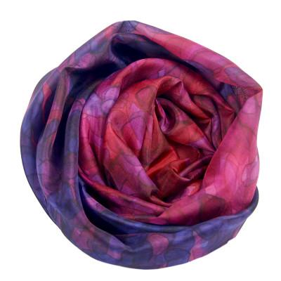 Sjaals | Handbeschilderd | 180x45 cm | 100-309