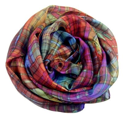 Sjaals | Handbeschilderd | 180x45 cm | 100-311