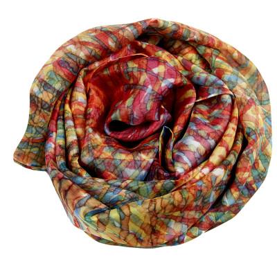 Sjaals | Handbeschilderd | 180x45 cm | 100-314