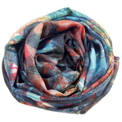 Sjaals | Handbeschilderd | 180x90 cm | 100-303