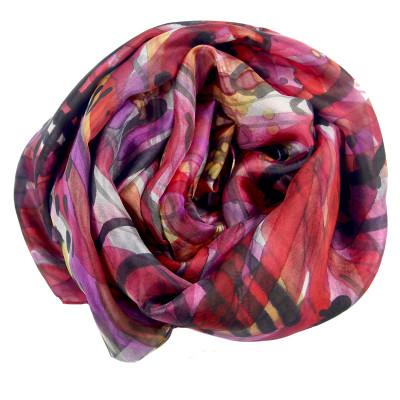 Sjaals | Handbeschilderd | 180x90 cm | 100-306