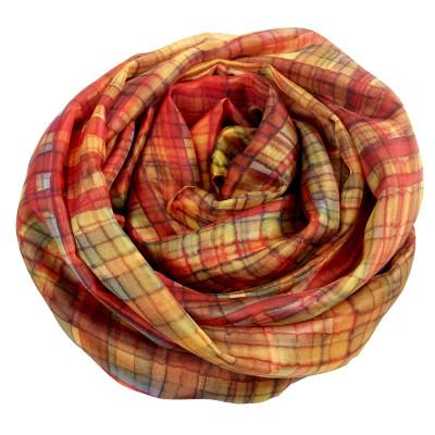 Sjaals | Handbeschilderd | 180x90 cm | 100-312