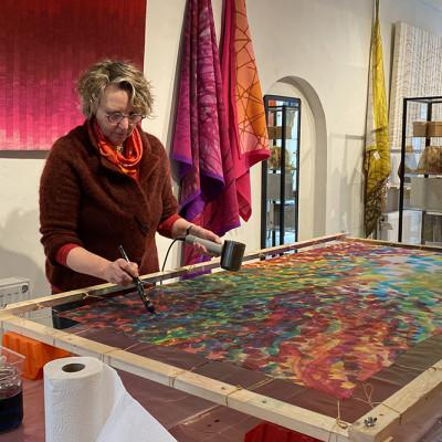 Workshops 1-daagse workshop experimenteel zijde schilderen